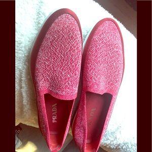 PRADA stretch loafers. Worn once